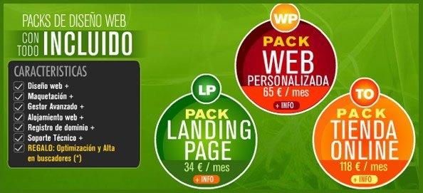 Packs de Diseño Web con Todo Incluido